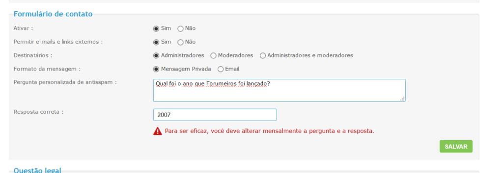 Fale connosco: nova opção antisspam Af1lbf10