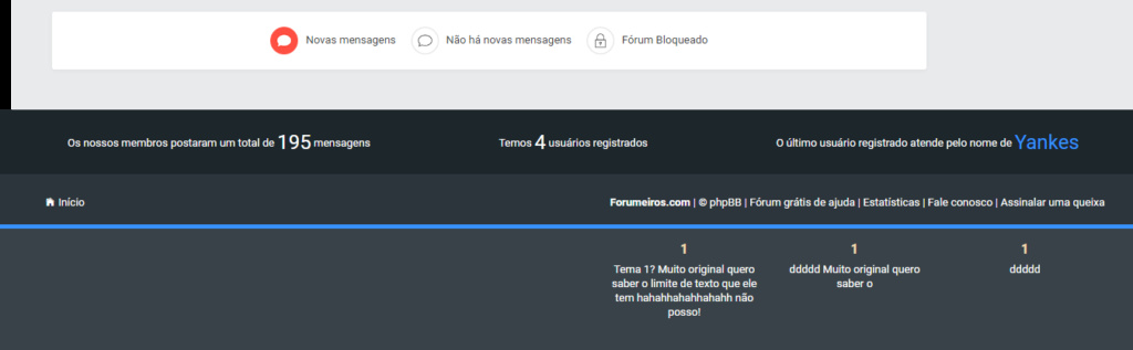 Modificar o rodapé do fórum Footer10