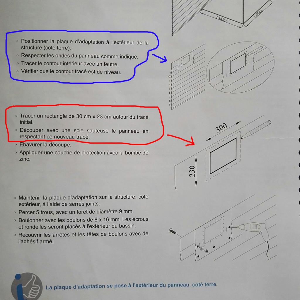 Dimensions découpe panneau de structure pour nouveau skimmer A10