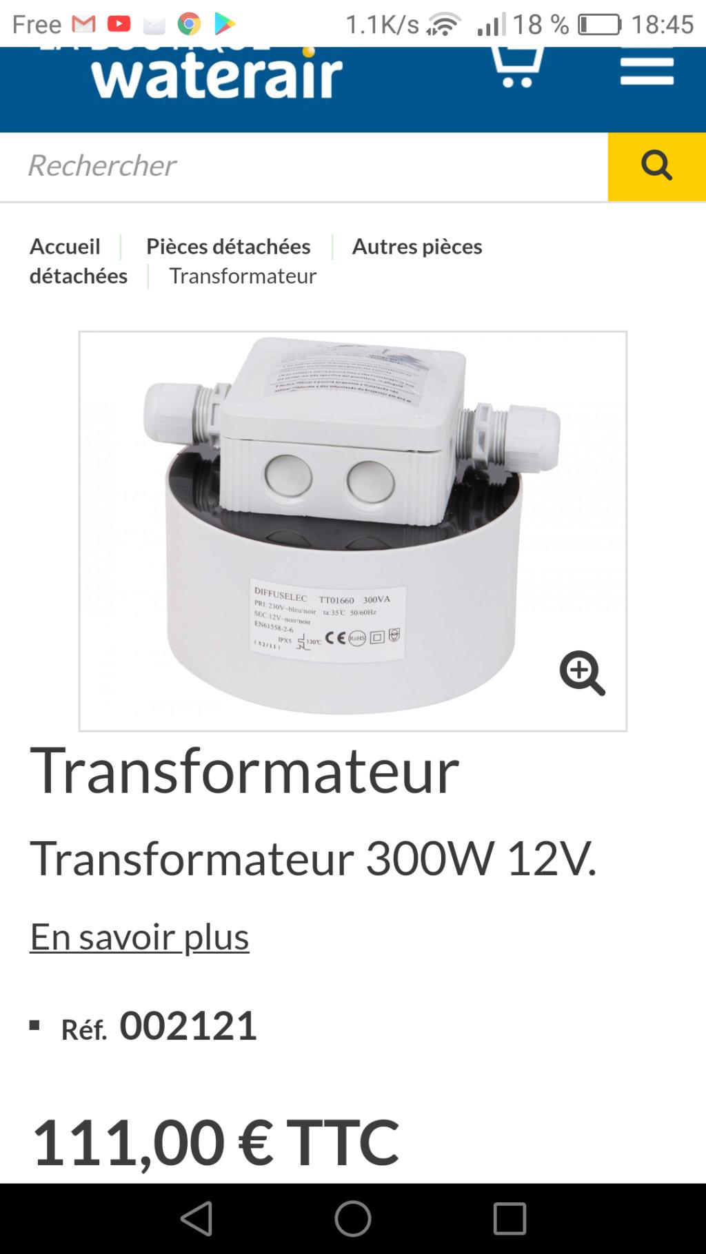 Quel transformateur Transf11