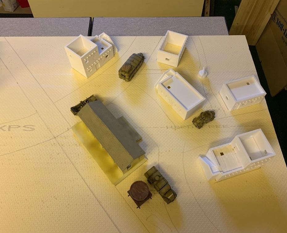 """Spielfeld """"Der Bahnhof von El Alamein""""  Wzste210"""