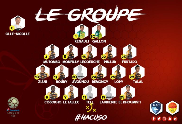 6ème journée  Havre AC - US Orléans  (3-1) Groupe10