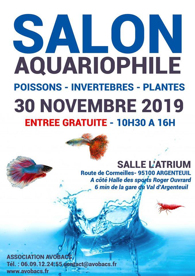 SALON/BOURSE AQUARIOPHILIE AVOBACS d'Argenteuil le 30 Novembre 2019 67124111