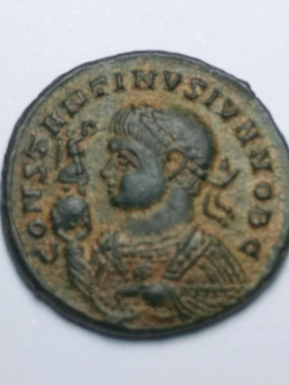 AE3 de Constantino II. BEATA TRAN-QVILLITAS. Globo sobre altar. Trier. Img_2024