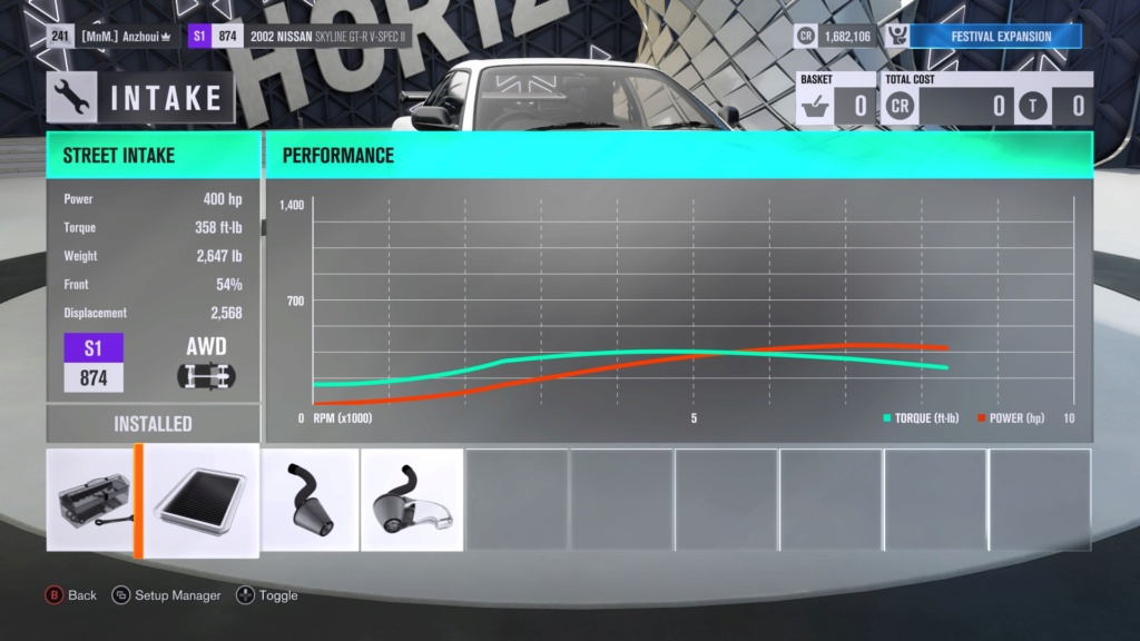 FH3 Time Attack | City Tour Sprint - 400HP (FWD/RWD/AWD) Afd26a10