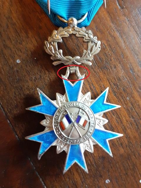 Médailles de chevalier de l'ONM 20210816