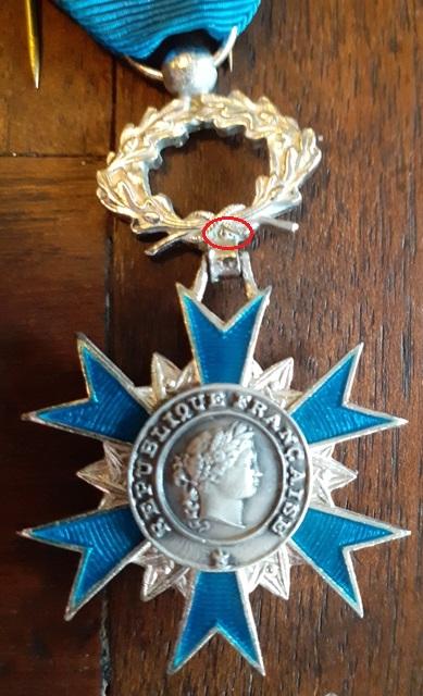Médailles de chevalier de l'ONM 20210817