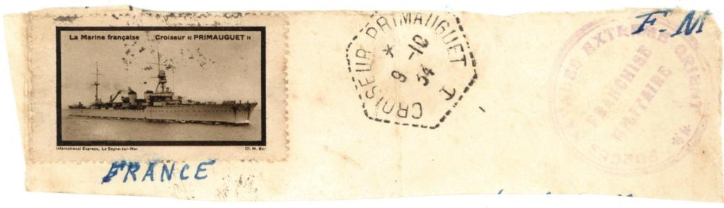 Cachet du croiseur Primauguet 1934 Franch10