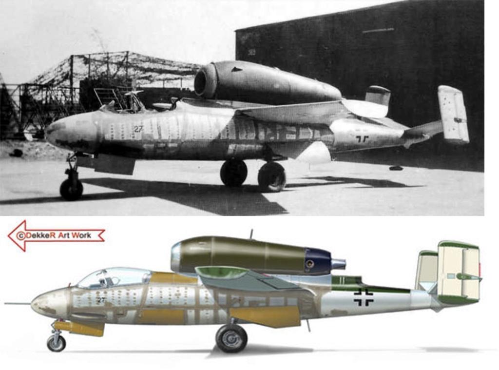 "He162 A-2  Salamander   Tamiya 1/48  -  ""montage  usine  avant peinture""   Image436"