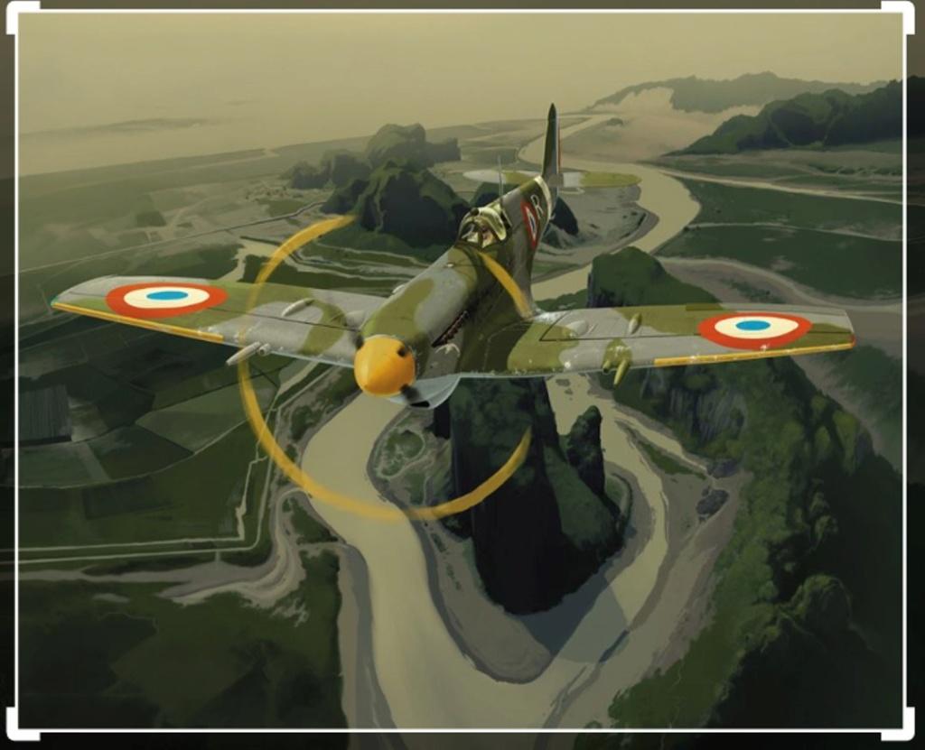 spitfire IXe Armée de l'air -   indochine  vautré    - 1/48 eduard +  plein de résine  Image473