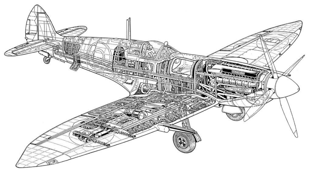 spitfire IXe Armée de l'air -   indochine  vautré    - 1/48 eduard +  plein de résine  Image491
