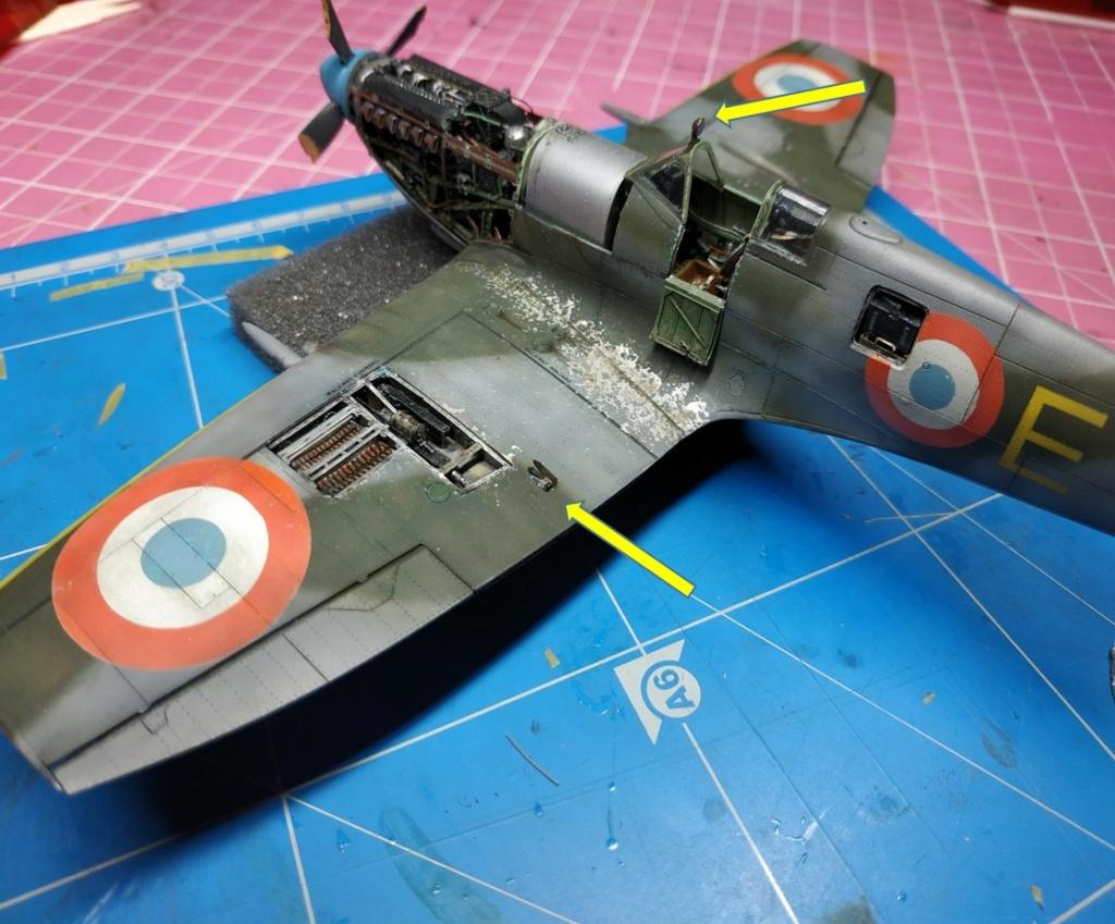 spitfire IXe Armée de l'air -   indochine  vautré    - 1/48 eduard +  plein de résine  - Page 6 Image853