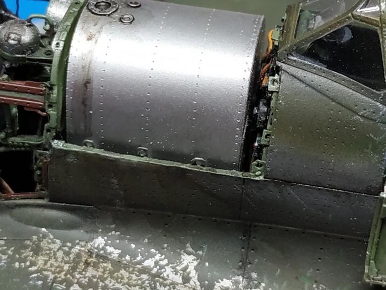 spitfire IXe Armée de l'air -   indochine  vautré    - 1/48 eduard +  plein de résine  - Page 6 Image861