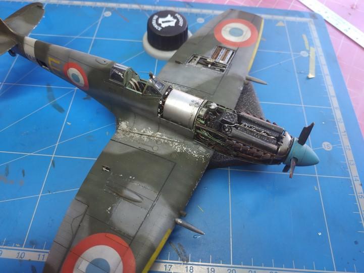 spitfire IXe Armée de l'air -   indochine  vautré    - 1/48 eduard +  plein de résine  - Page 6 Image862