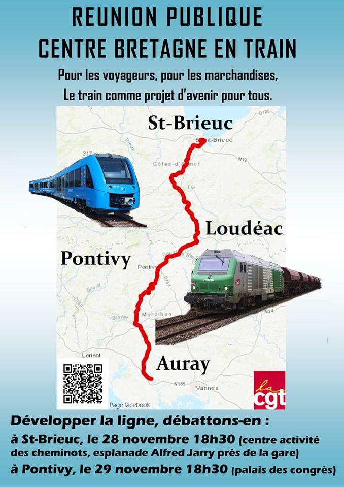 Réunion publique Centre Bretagne en train, de St Brieuc à Auray 74651310