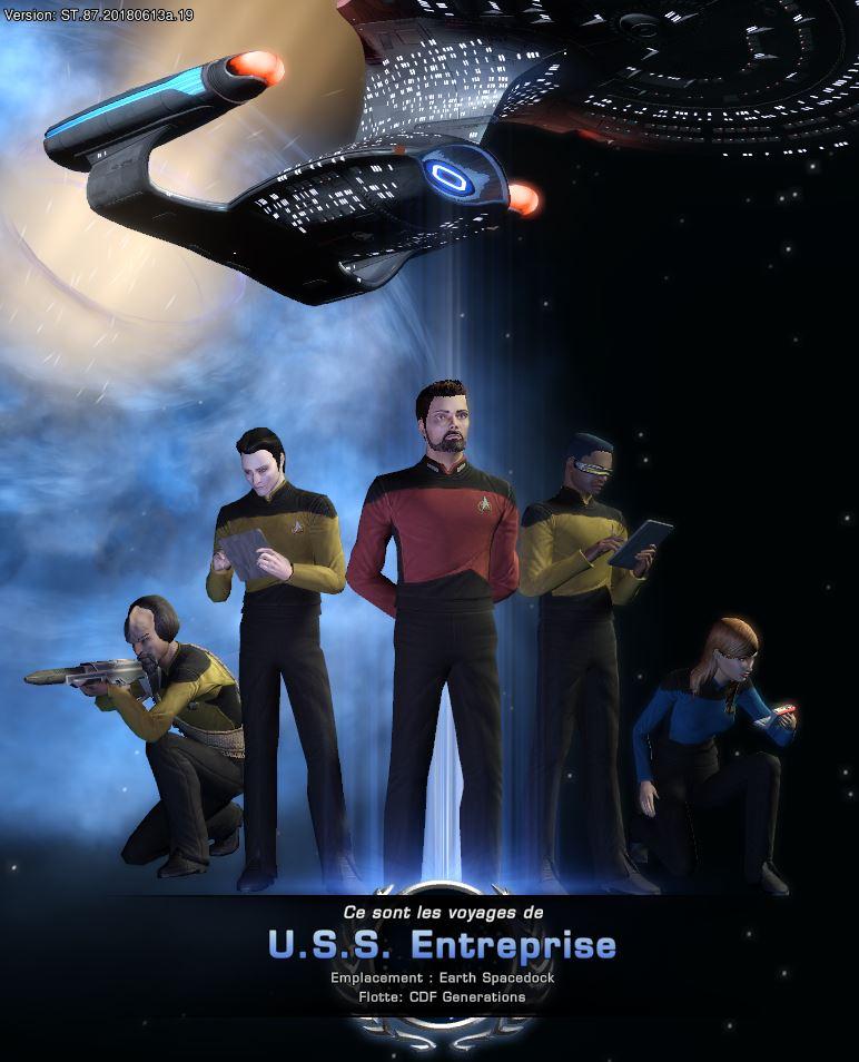 """Configuration """"Enterprise"""" du Croiseur d'Exploration Modernisé Captu128"""