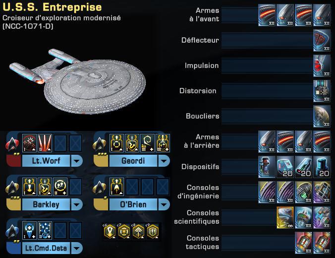"""Configuration """"Enterprise"""" du Croiseur d'Exploration Modernisé Captu130"""