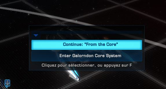 "XP avec la mission ""The core of the matter"" Captu494"