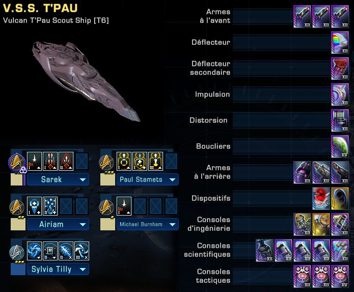 tactique - le V.S.S. T'Pau de mon perso tactique Saru Captu524