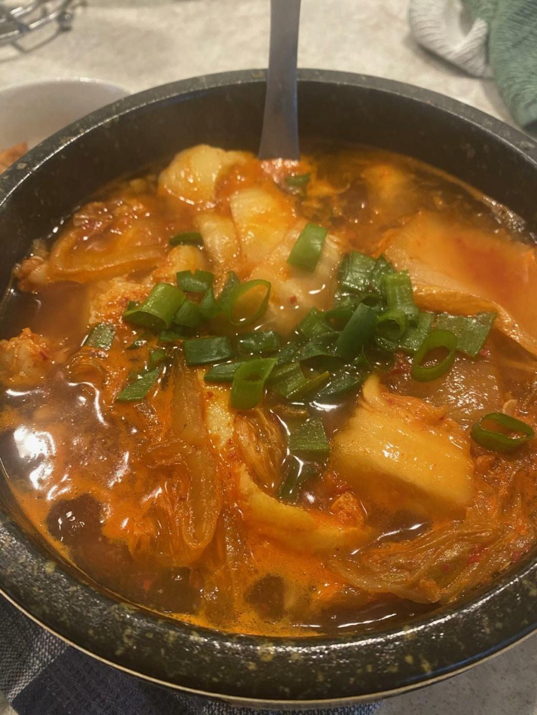Kimchi soondubu Jjingae  Korean10