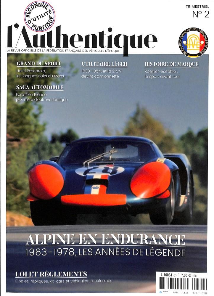 """""""L'authentique"""" revue de la FFVE L_auth10"""