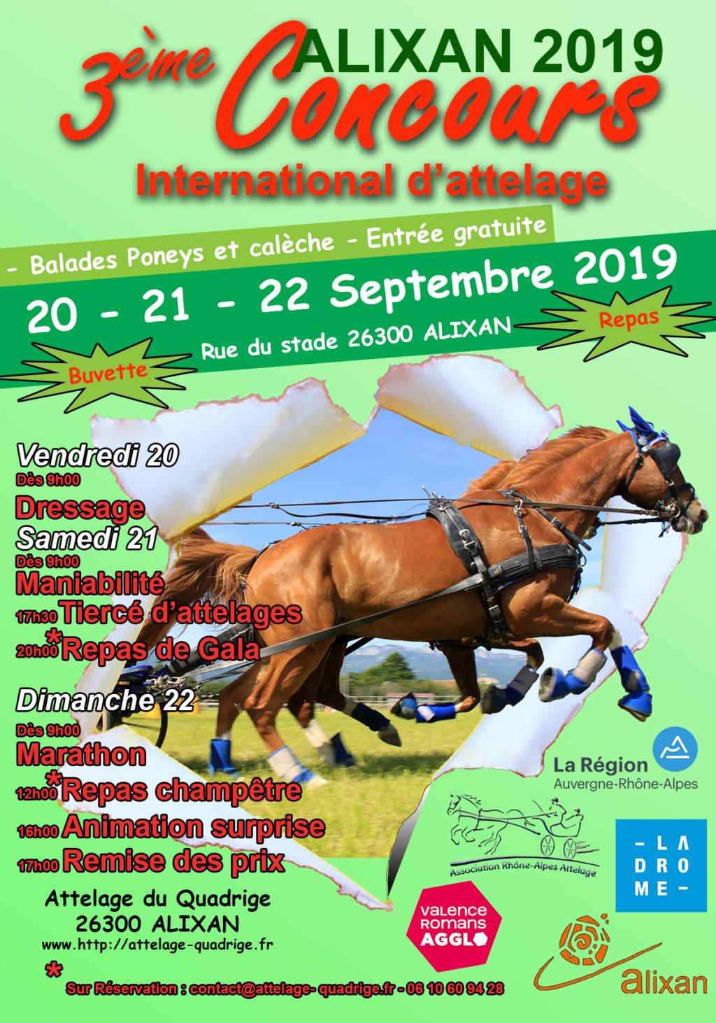 Concours International d'attelage d'Alixan - 20 au 22 sept. 2019 Affich10