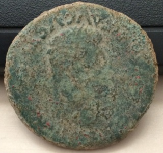 As de Celsa, época de Augusto. CN DOMIT C POMPEI – II VIR C V I CEL. Toro parado a dcha. Bac10
