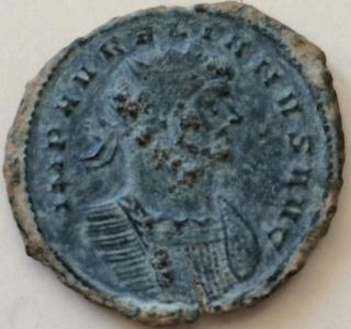 Antoniniano de Aureliano. ROMAE AETE-RNAE. Emperador  y Roma. Mediolanum. Folli11