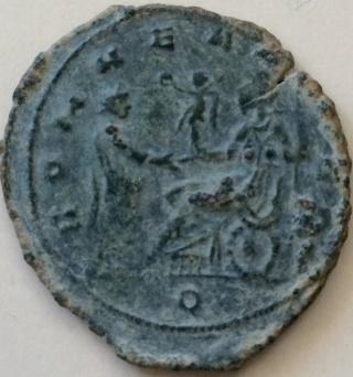 Antoniniano de Aureliano. ROMAE AETE-RNAE. Emperador  y Roma. Mediolanum. Folli111