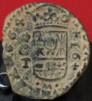 16 maravedís de Felipe IV de Córdoba, 1664. Ho10