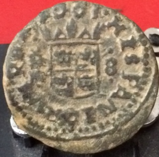 8 maravedís de Felipe IV de Trujillo, 1663. Hy10