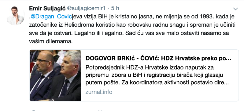 """Avdo Avdić: Vaso Brkić sprema """"krađu"""" izbora u BiH u korist Čovića a na štetu Komšića Slika157"""