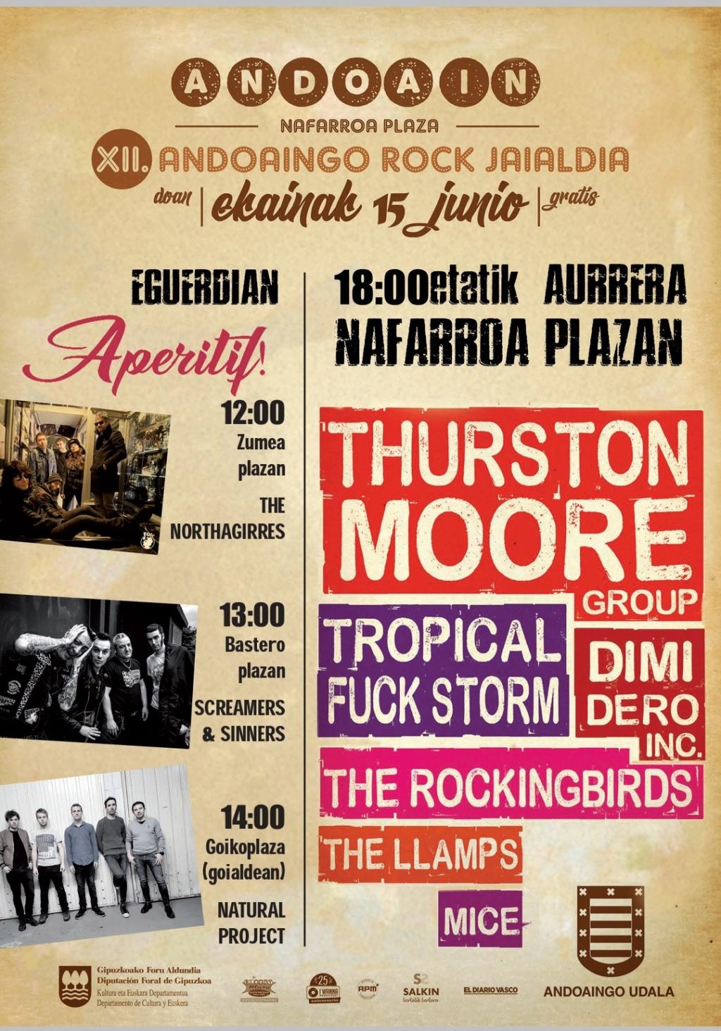 Andoaingo Rock Jaialdia 2019 (15 de junio): Thurston Moore, Tropical Fuck Storm, ... ¡GRATIS! 1e4e6910