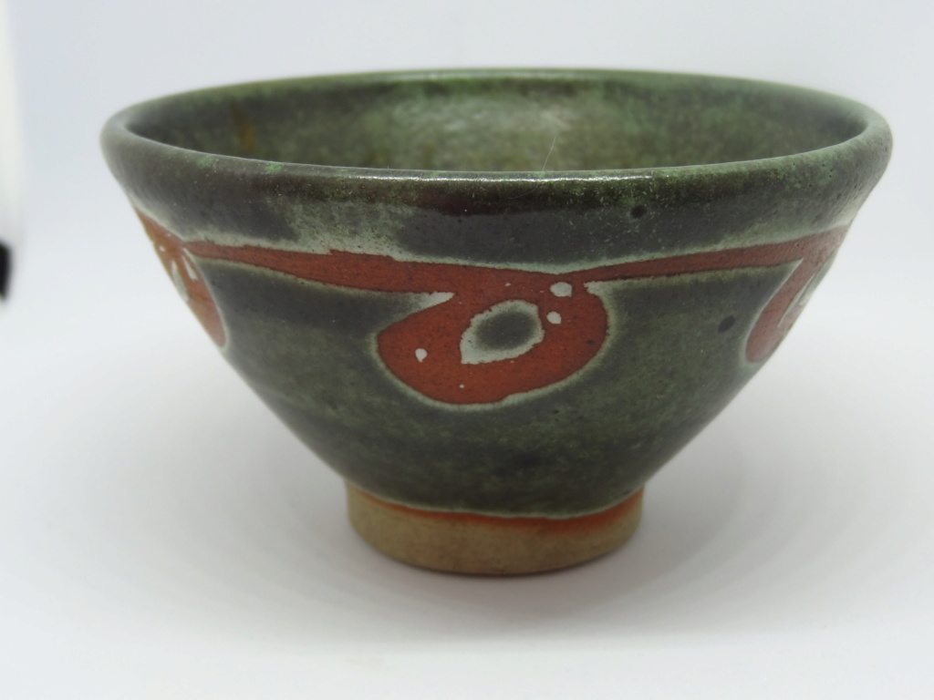 Unknown studio pottery bowl with bell mark  Dsc03112