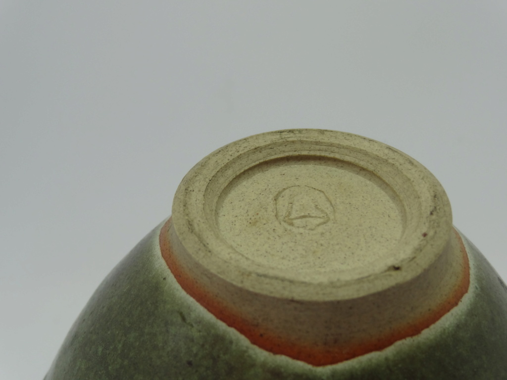 Unknown studio pottery bowl with bell mark  Dsc03113
