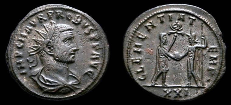 Aureliano de Probo. CLEMENTIA TEMP. Probo recibiendo globo de Júpiter. Trípoli 338510