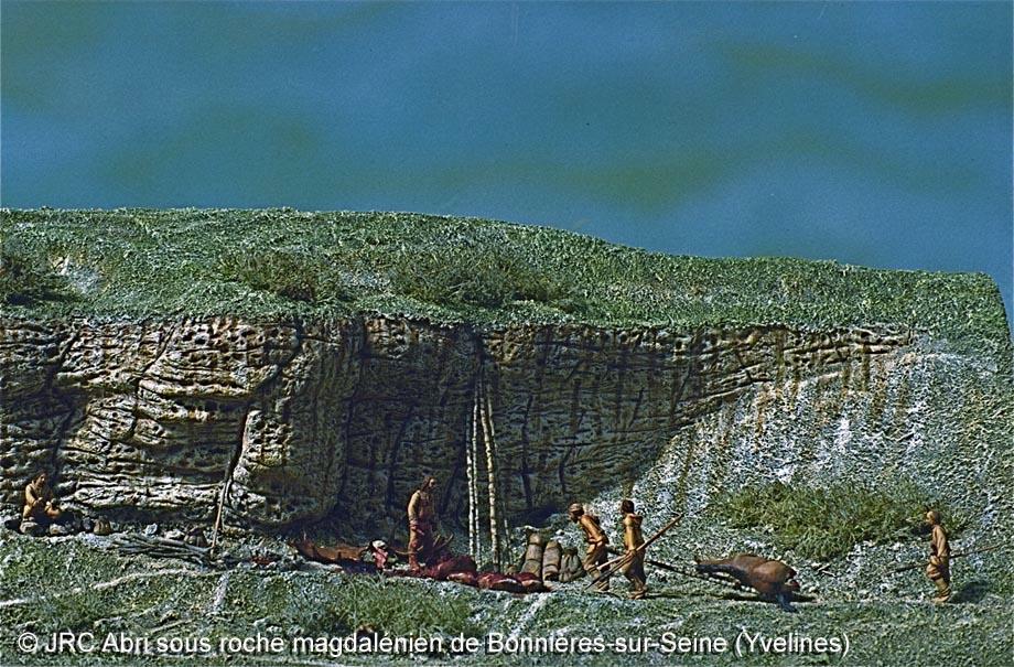 Dioramas construits pour le Musée Saint-Remi à Reims 1- Paléolithique Abri1_10