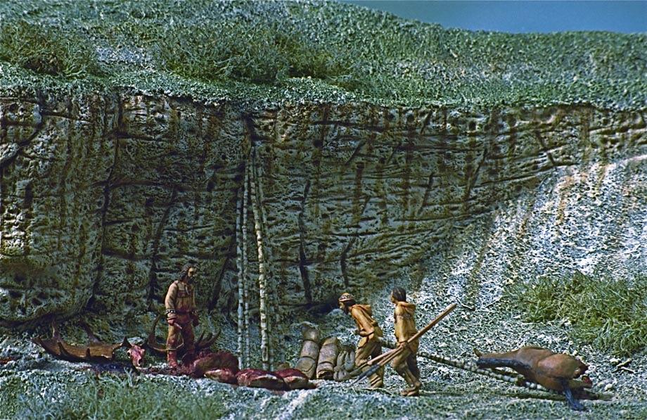 Dioramas construits pour le Musée Saint-Remi à Reims 1- Paléolithique Abri310