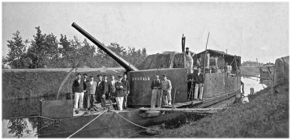 """Canonnière """"Brutale"""" Echelle HO = 1/87e Maquette construite en 1998 pour le Musée du Fort de la Pompelle (51) Brut111"""