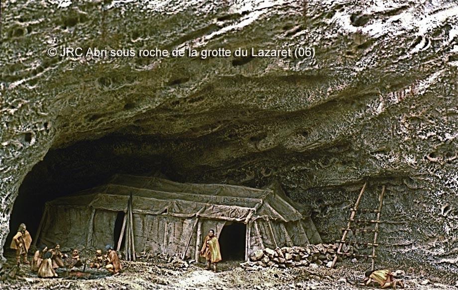 Dioramas construits pour le Musée Saint-Remi à Reims 1- Paléolithique Lazare10