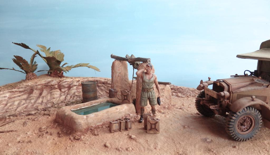Corvée d'eau Oasis du désert libyque Egypte 1941 P2170011