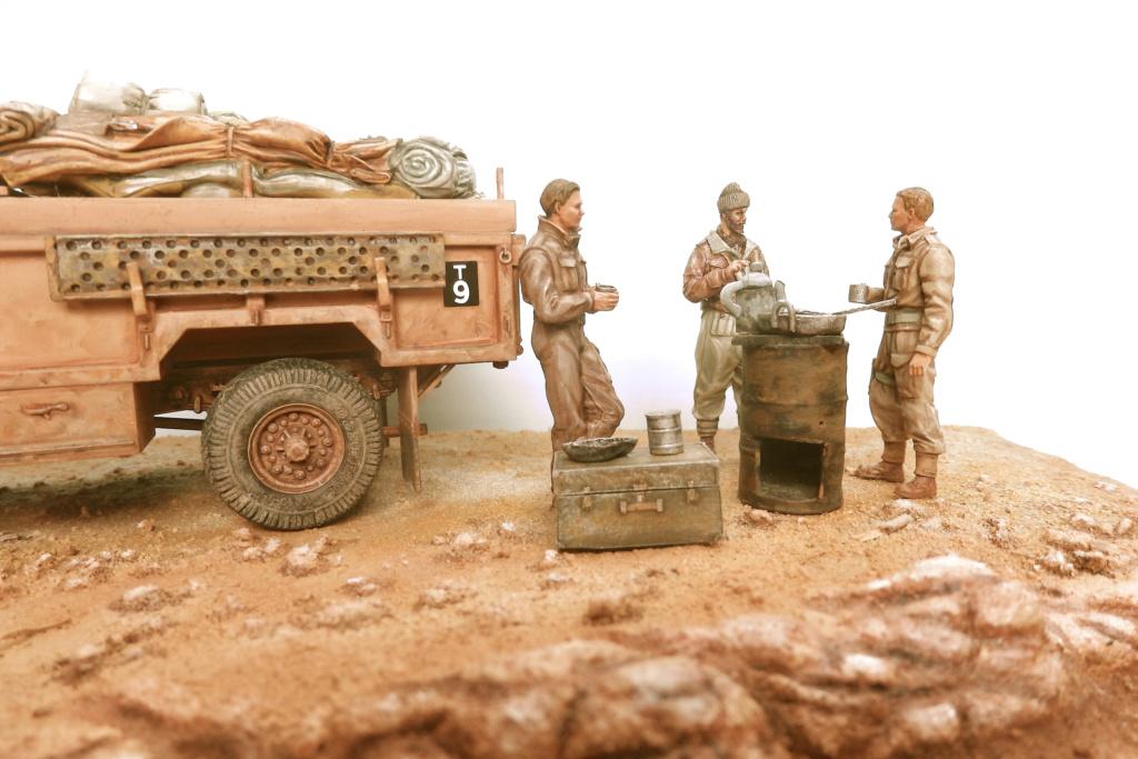 Lunch time Long Range Desert Group Désert libyque 1942 Pc150011