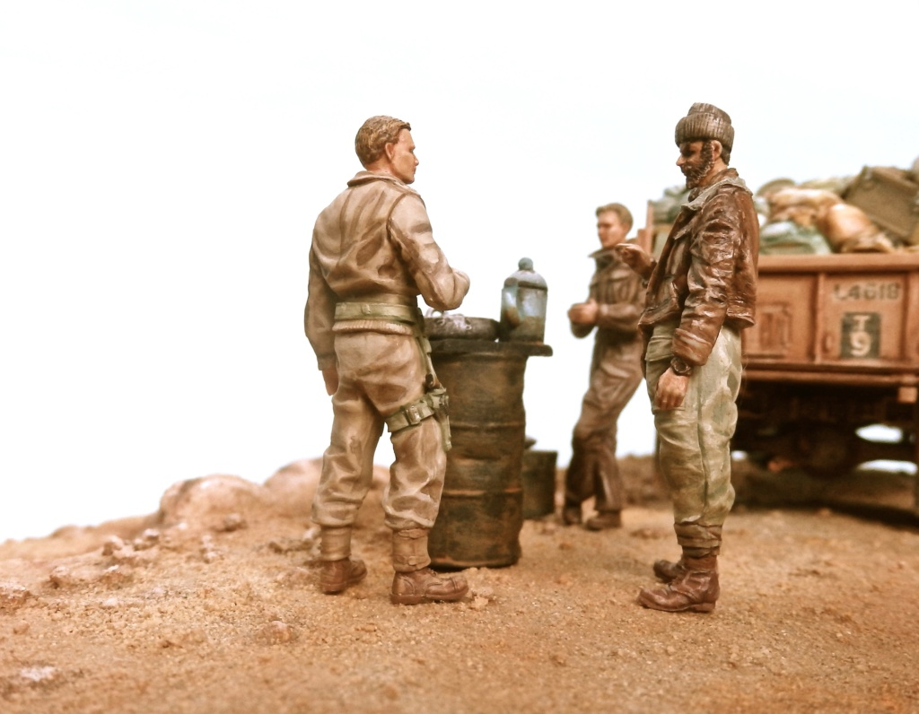 Lunch time Long Range Desert Group Désert libyque 1942 Pc160013