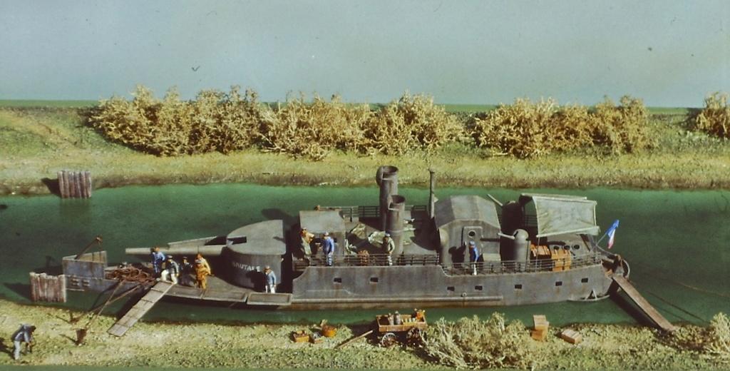 """Canonnière """"Brutale"""" Echelle HO = 1/87e Maquette construite en 1998 pour le Musée du Fort de la Pompelle (51) Pict0210"""