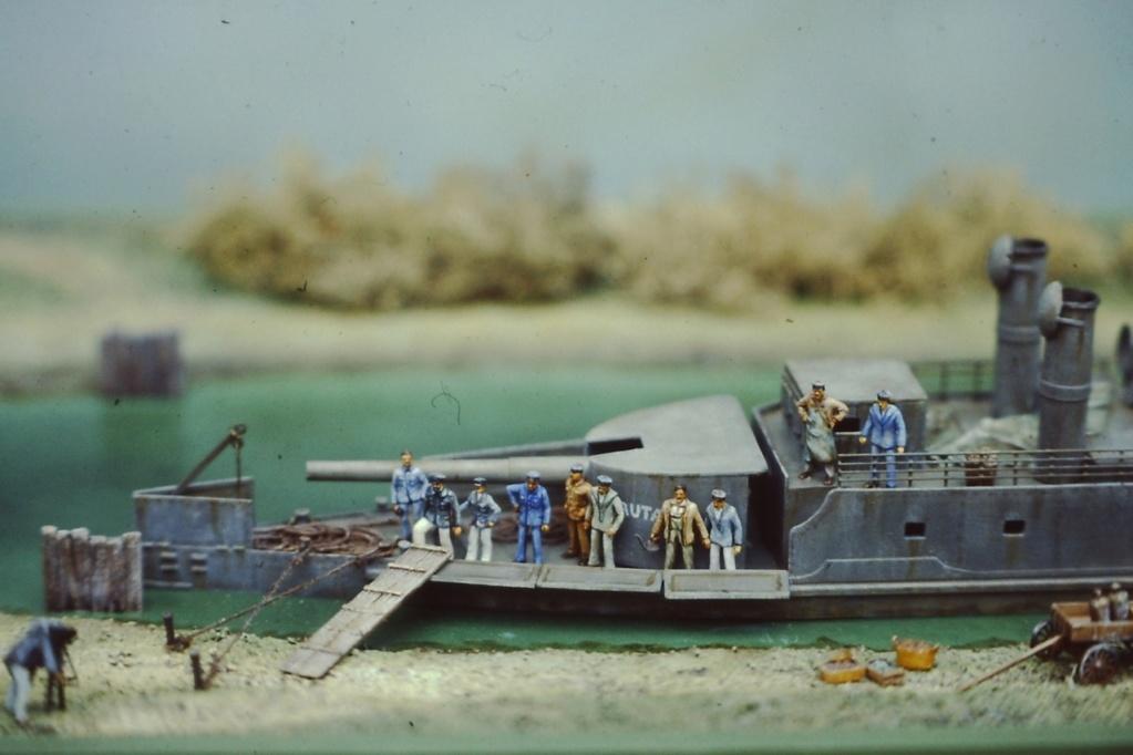 """Canonnière """"Brutale"""" Echelle HO = 1/87e Maquette construite en 1998 pour le Musée du Fort de la Pompelle (51) Pict0211"""