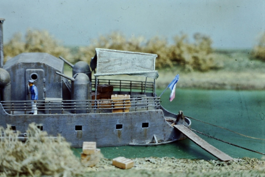 """Canonnière """"Brutale"""" Echelle HO = 1/87e Maquette construite en 1998 pour le Musée du Fort de la Pompelle (51) Pict0212"""