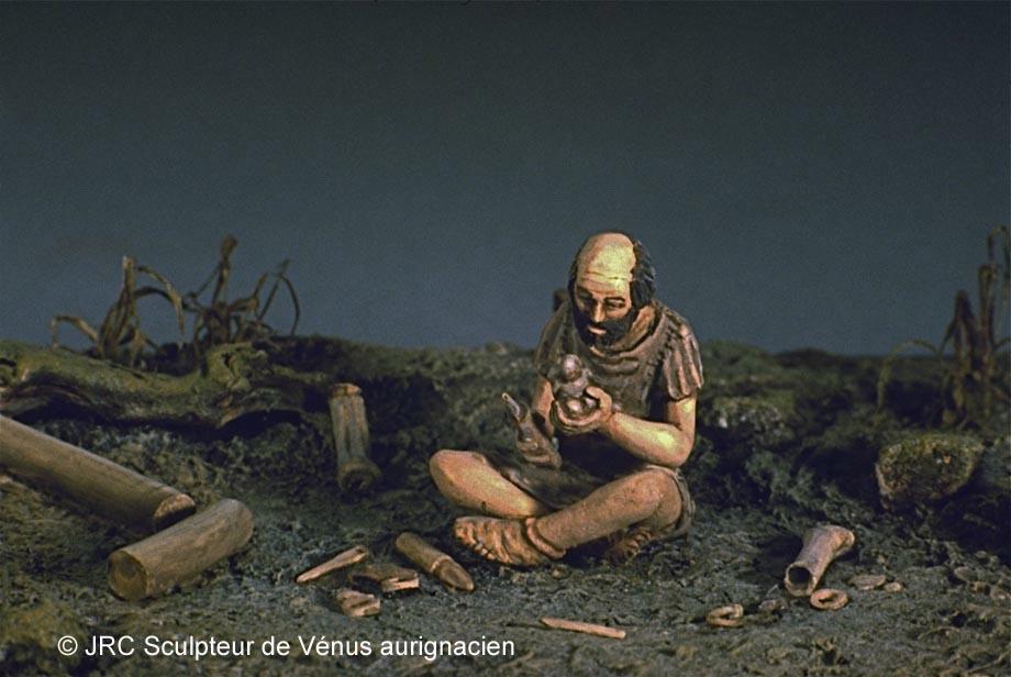 Dioramas construits pour le Musée Saint-Remi à Reims 1- Paléolithique Sculpt10