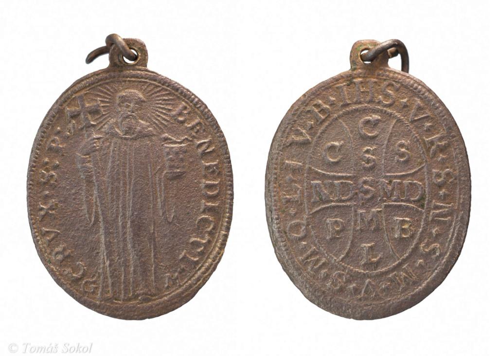 San Benito Abad / Oración y cruz de San Benito  (R.M. SXVII-O496) Benedi10
