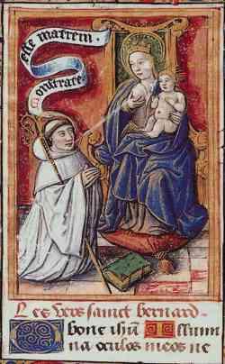 Lactacion de San Bernardo y coronacion de Maria  (R.M. SXVII-C94) Bernha10