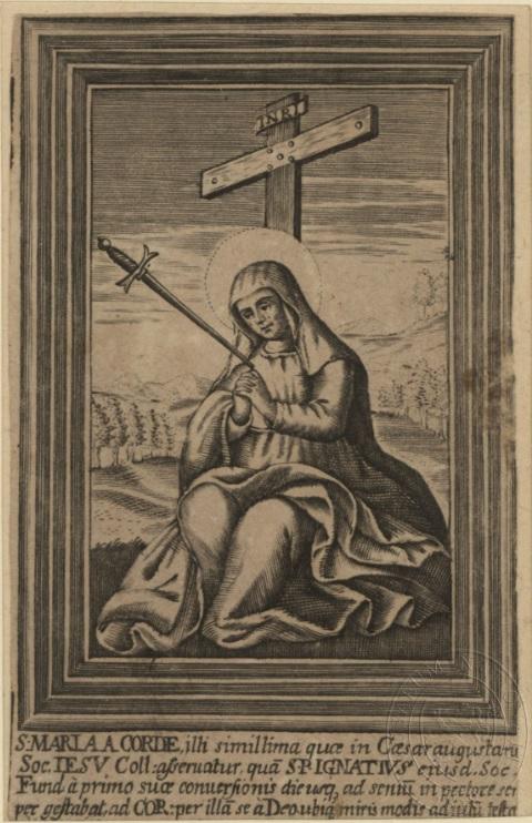 San Ignacio de Loyola - Mater Dolorosa una espada, S. XVII (R.M. SXVII-O474) Bez_nz10